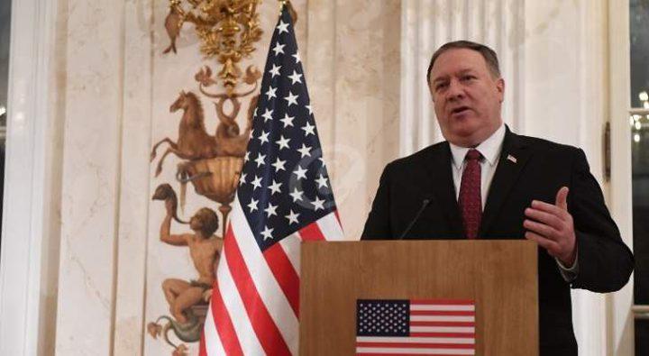 """بومبيو يرفض تحديد موقف واشنطن من احتمال إطباق """"إسرائيل""""على الضفة"""