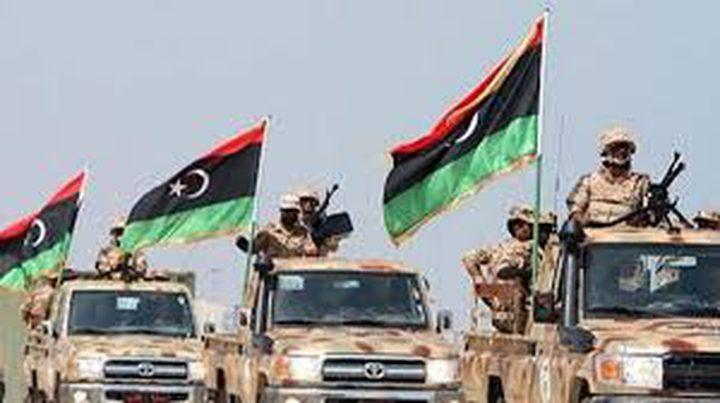 قوة عسكرية من الجيش الوطني الليبي تتجه إلى غرفة عمليات سرت الكبرى