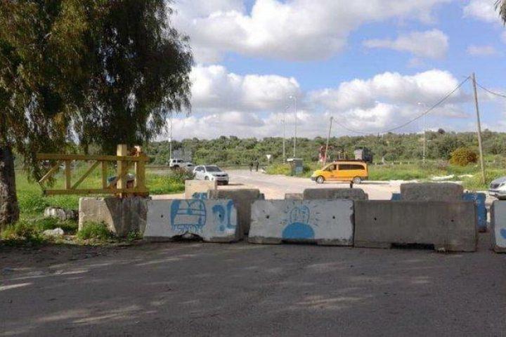 الاحتلال يواصل إغلاق مدخل بلدة عزون لليوم الخامس عشر