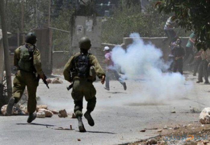إصابات بالاختناق بمواجهات مع الاحتلال في سبسطية