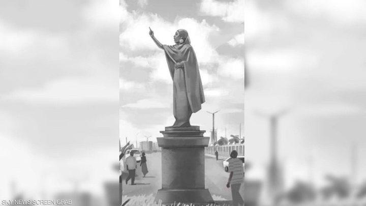 """مطالب ببناء تمثال حرية لـ""""أيقونة الحراك السوداني"""""""