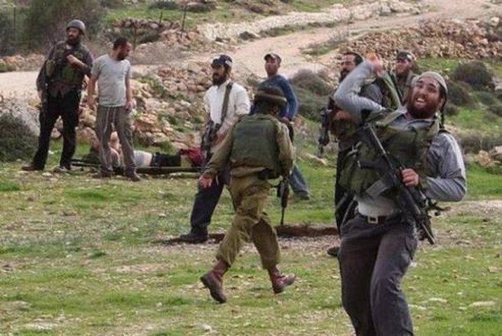 مستوطنون يستهدفون مركبة مواطن جنوب نابلس