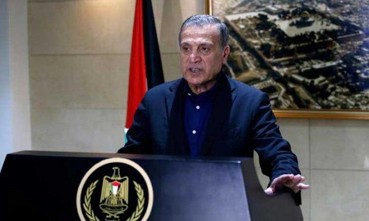 أبو ردينة يستقبل السفير الصيني