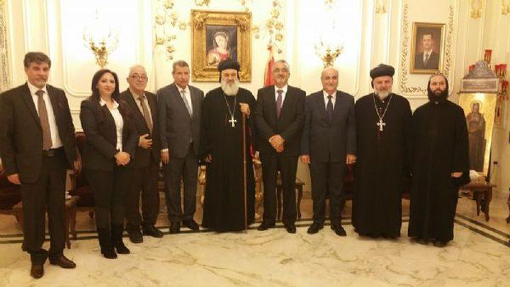 """وفد """"اللجنة الرئاسية العليا لشؤون الكنائس"""" يلتقي وفدا سوريا"""