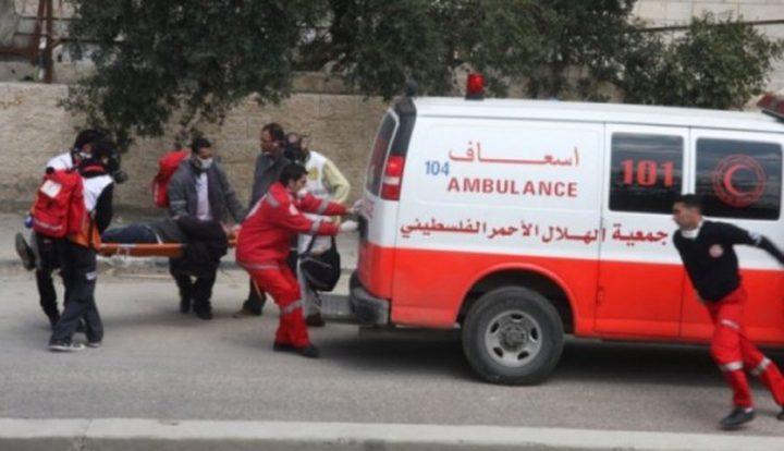 الهلال الأحمر : اصابة 10 مواطنين  بحادث سير مروع قرب عزون