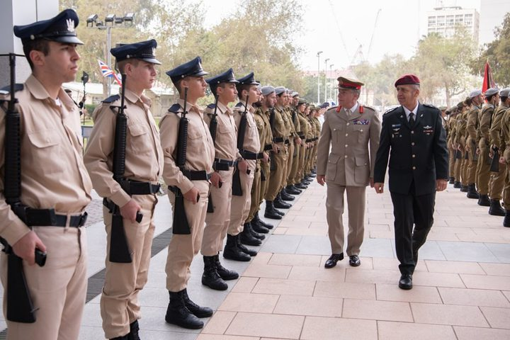 """رئيس أركان الجيش البريطاني يصل """"تل أبيب"""""""