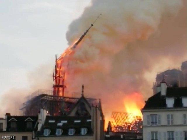 """مدعي عام باريس: حريق نوتردام """"قد يكون عرضيا"""""""