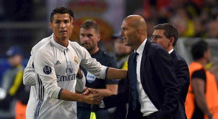 زيدان يعترف: رونالدو لاعب لا يمكن تعويضه