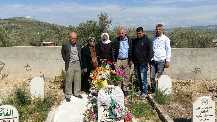 وضع أكاليل زهور على أضرحة شهداء الحركة الأسيرة في جنين