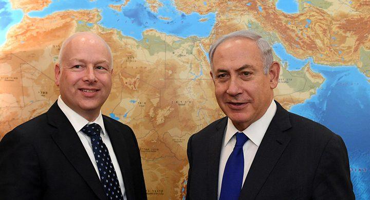 """غرينبلات ينشر خريطة لإسرائيل تضم """"الجولان"""" السورية"""