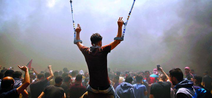 """اصابات جراء اعتداء الاحتلال على المشاركين بجمعة """"يوم الأسير"""""""