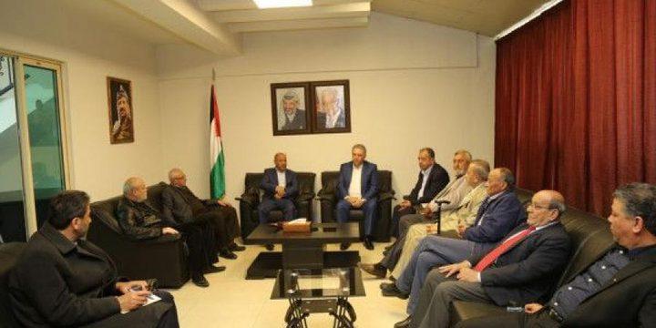 دبور يستقبل وفد رجال الأعمال الفلسطينيين