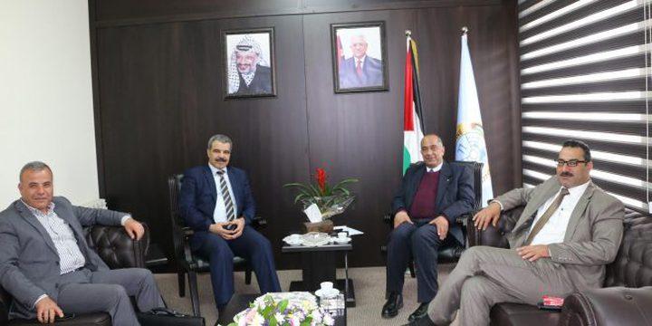 وزير العدل يلتقي  مع رئيس هيئة التقاعد ورئيس ديوان الرقابة