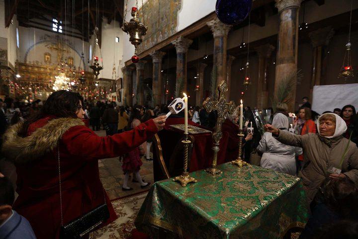 الكنائس في رام الله تحتفل بأحد الشعانين