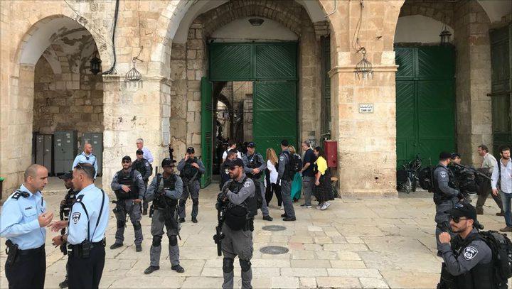 عشرات المستوطنين وقائد شرطة الاحتلال يقتحمون الأقصى