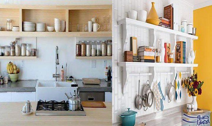 """""""بالصور"""" أهمية الرفوف لاستغلال المساحات بالمطبخ"""