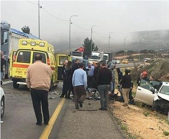 5 اصابات بحادث سير شرق بيت لحم