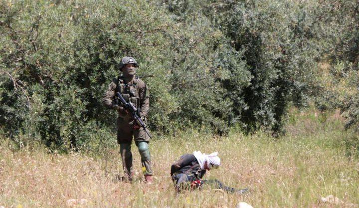 جنود الاحتلال يطلقون النار على فتى وهو مُقيد ومعصوب العينين