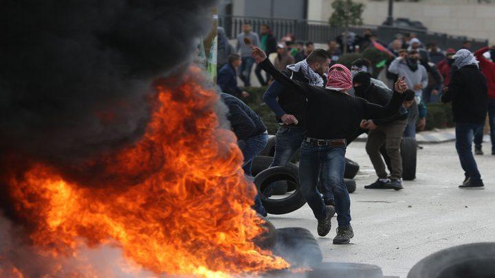 عشرات حالات الاختناق خلال مواجهات مع الاحتلال في قباطية