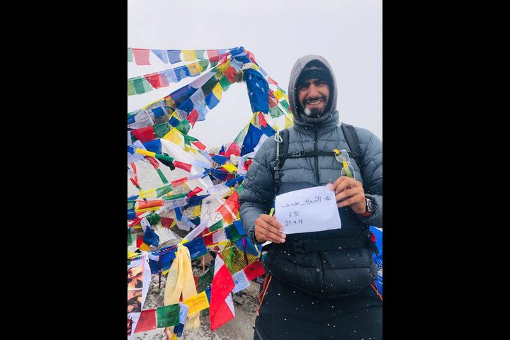 """العلم الفلسطيني يرفرف على جبل ايفرست""""صور"""""""