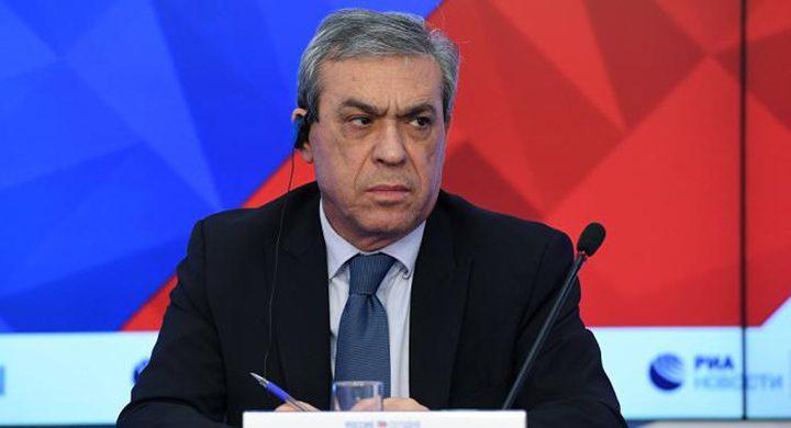 السفير نوفل: موسكو تعمل على بلورة رؤية جديدة لعملية السلام