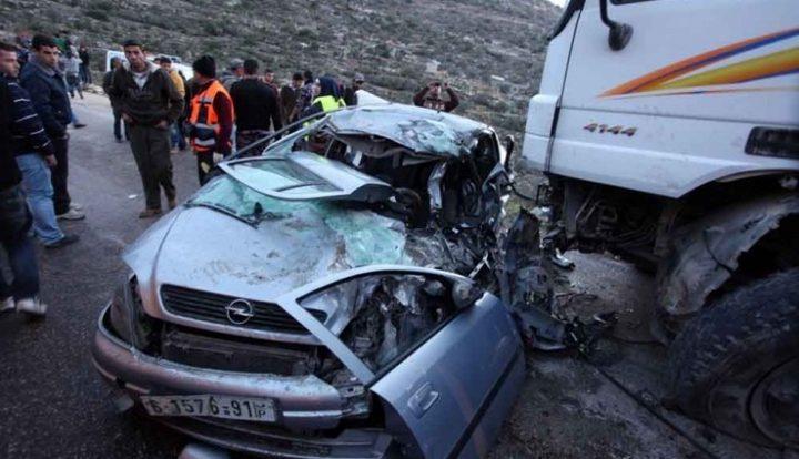 اصابة 10 مواطنين بحادث سير قرب بلدة حلحول