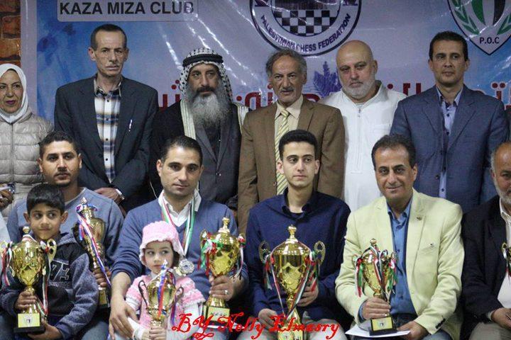 اختتام بطولة غزة المفتوحة للشطرنج الكلاسيكي في المحافظات الجنوبية