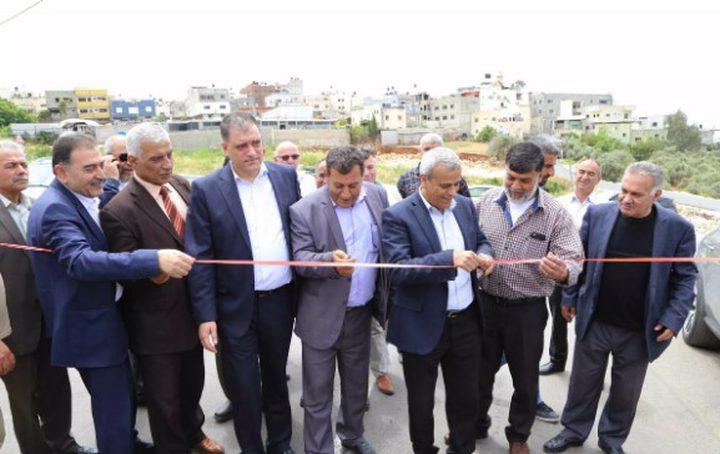 افتتاح شارع النبي الياس جيوس شرقي قلقيلية