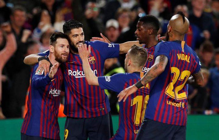 برشلونة يحرز لقب الدوري الإسباني بفوز على ليفانتي