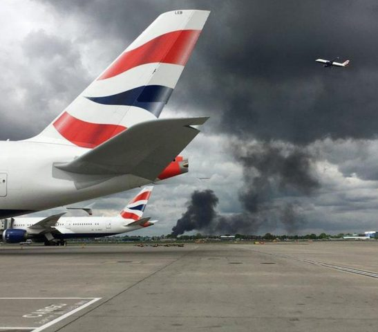 انفجار هائل بمحيط مطار هيثرو في لندن