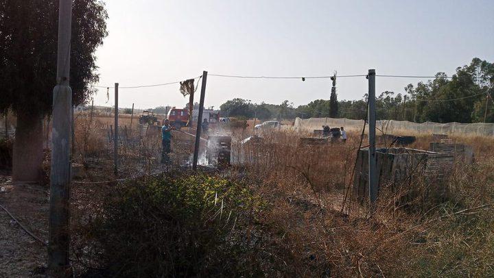 """الاحتلال يزعم اندلاع حريق قرب مستوطنة """"سدوت النقب"""""""