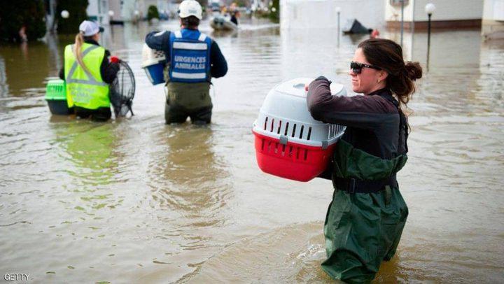 عملية إجلاء  لآلاف الأشخاص بسبب الفيضانات في كندا