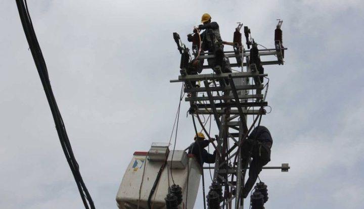 فصل خطي كهرباء رفح وشمال غزة غداً