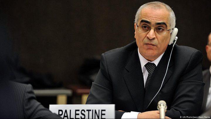 خريشي يطلع مدير منظمة العمل الدولية على الاوضاع في فلسطين