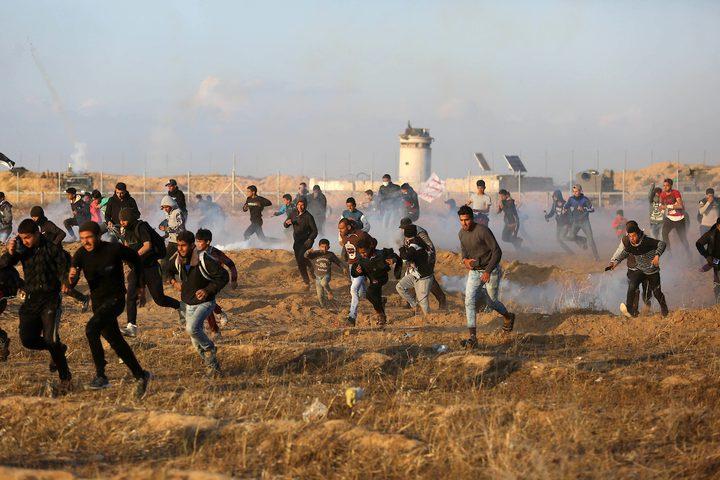 اصابات برصاص الاحتلال وبالاختناق بينهم صحفية شرق قطاع غزة