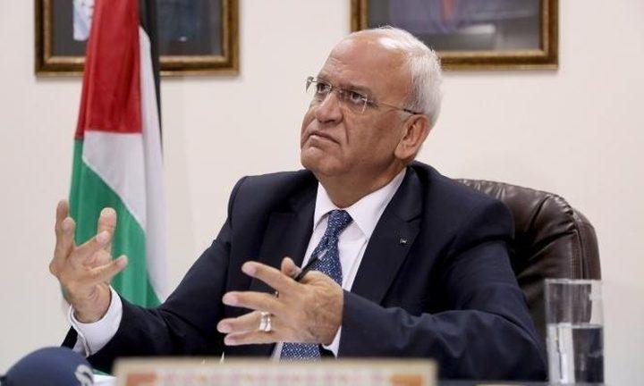 عريقات يدين العدوان الإسرائيلي على غزة ويطالب بتوفير الحماية