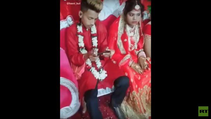 """عريس يتجاهل عروسه في حفل الزفاف بسبب الـ """"PUBG"""""""