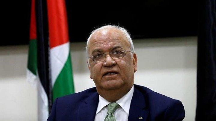 عريقات يدعو الفصائل للتعاون مع مصر والأمم المتحدة