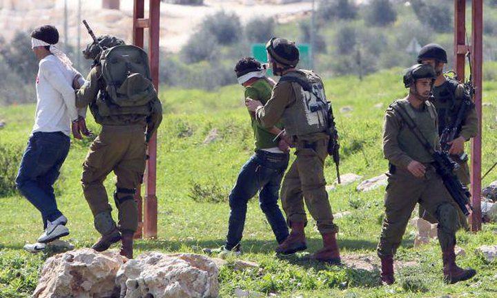اعتقال أربعة شبان من نابلس