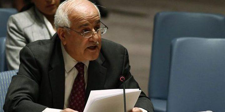 منصور يبحث مع رئيس مجلس الأمن العدوان الإسرائيلي على غزة