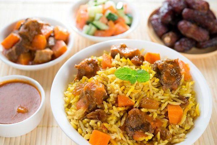 طاجن الأرز بالجزر واللحم