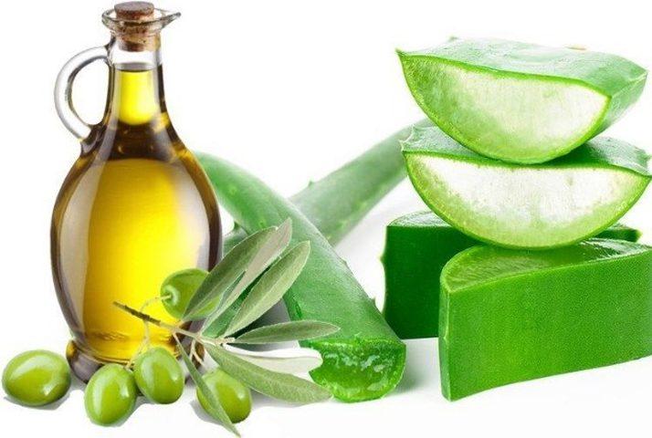الألوفيرا وزيت الزيتون لعلاج جفاف الجلد حول الأظافر