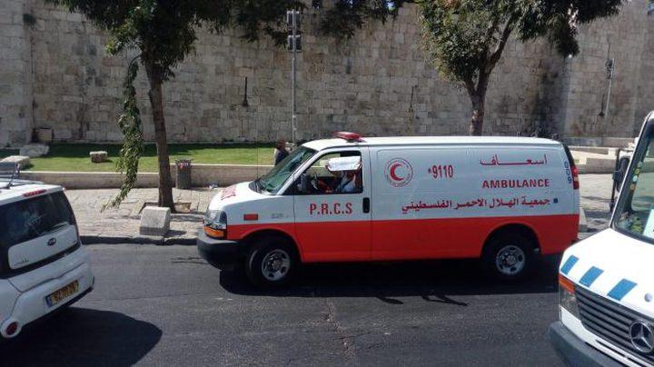 8اصابات بينهم طفل  بحادث سير  قرب القدس