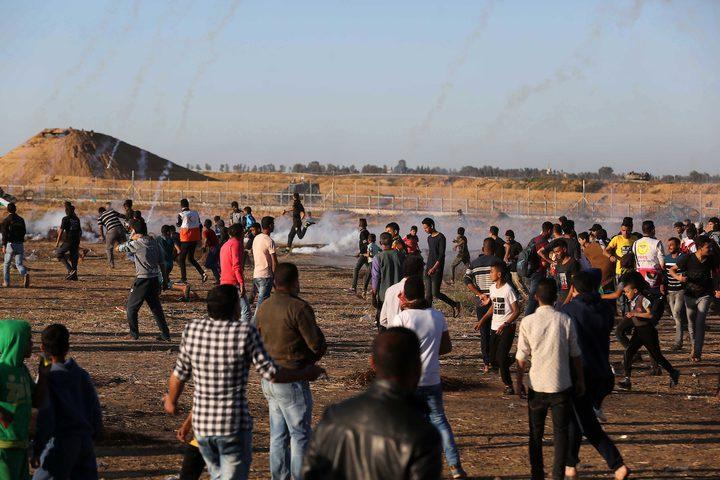 شهيد وعدد من الاصابات جراء قمع الاحتلال لمسيرات العودة