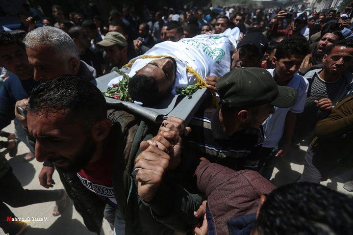 تشييع جثمان الشهيد عبد الله عبد العال برفح