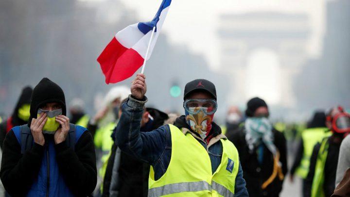 مواجهات بين الشرطة والمحتجين في حراك السترات الصفراء بفرنسا