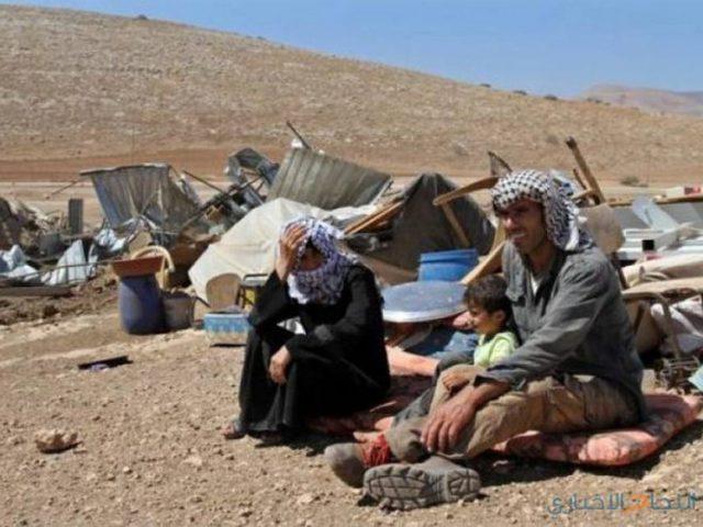 قوات الاحتلال تطرد أهالي منطقة حمصة بالأغوار من مساكنهم