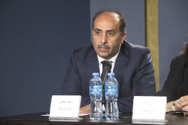 عطاري يبحث مع السفير الأردني سبل تفعيل شركة التسويق