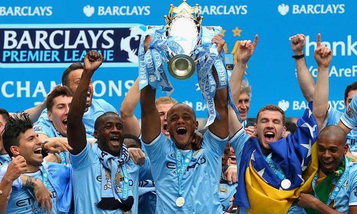 مانشستر سيتي يتوج بطلاً للدوري الإنجليزي الممتاز
