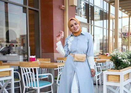 ab6ba396a فساتين محجبات لإطلالة رمضان2019